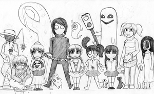 Waiting for you in Yume Nikki by Corpse-Face
