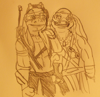 i ship don and mike (2014 movie versions) by TMNTFAN85