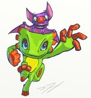 Yooka-Laylee Doodle by sovanjedi