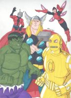 Classic Avengers by RobertMacQuarrie1