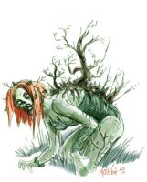 Poison Ivy Zombie by mothbot