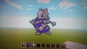MineCreating: MewTwo by thebannanaking