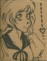 Cardboard doodle by pic-a-day