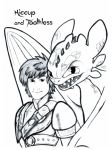 How To Train Your Dragon 2: Hiccup and Toothless by Alexbee1236