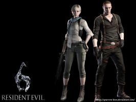 Jake and Sherry ~ Resident Evil 6 by Sparrow-Leon