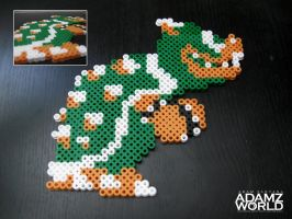 Bowser - Perler Beads by Adamzworld