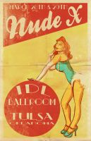 Vintage Burlesque Style Poster by DustinEvans