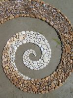 Chalk,Sandstone spiral by Dishtwiner