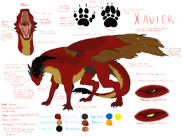 Xavier Reference Sheet by PurpleArtemis