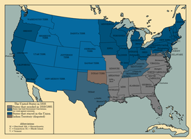 The United States in 1860 by TheAresProject