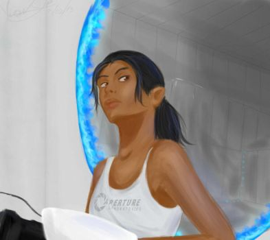 Chell by Bipee