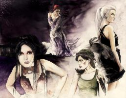 Women - Watercolors by GrimDreamArt