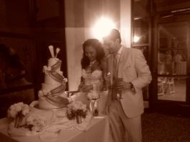 now we cut the cake together by vienna2000