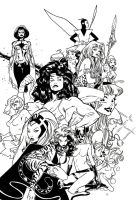 Women of Marvel Inks by JoshTempleton