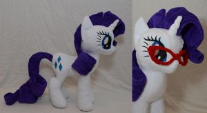 Rarity Plushie by makeshiftwings30