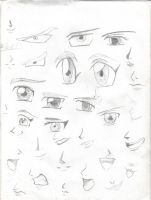 Anime Manga Eyes Mouths Noses by Blood4UndeadSoul-000