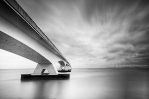 Zeeland Bridge II by GeorgeGoodnight