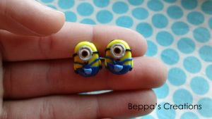 Minion Earrings by BeppasCreations