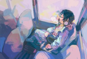 On the way home by Antiquewhtie