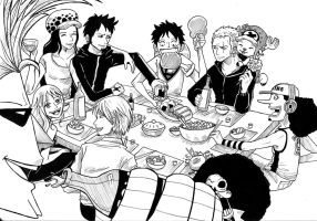 Strawhat Crew Dinner Time by Katchina-Q2