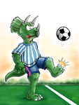 Soccersaurus by hankinstein