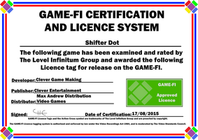 Shifter Dot Game-Fi Certificate by LevelInfinitum