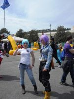 Bulma and Mirai Trunks by PinkLemon91