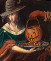 Halloween Master Painting by Newbeing