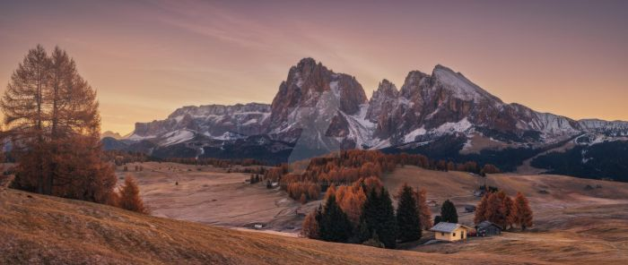 Autumn morning on the plateau Alpe Di Siusi by naumenkophotographer