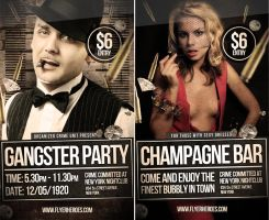 Gangster Mugshot Themed PSD Party Flyer Template by quickandeasy1