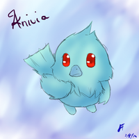 League of Legends: Anivia chibi by TheMuteMagician