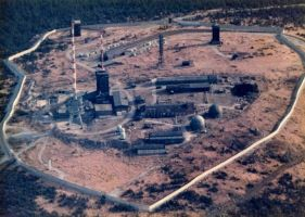 Brocken, Germany, 1986 with SIGINT towers by notofthisearth