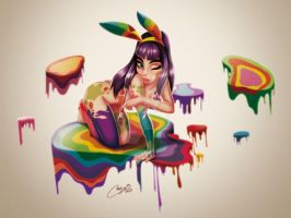 Paint plus Buny by melivillosa