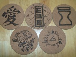 Gaara coasters by TheTurnerPack