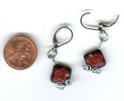 Rose earrings by Glori305