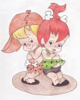 Pebbles and BamBam by Tumelo