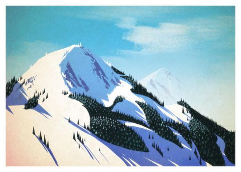 Holiday mountains by victoria-ying