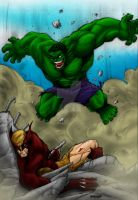 Hulk Wolverine End Battle by DeathRattleSnake