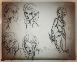 Quick sketches: Talitha by SandButterbeer