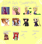 2014 Art Summary by LittleChiChi