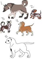 Natural Assorted Canine Adopts OPEN by lurking-chaos