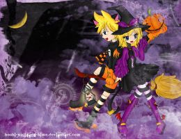 Happy Halloween Kagamine Twins by Hoshi-Wolfgang-Hime