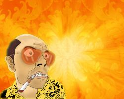 Raul Duke on LSD by Makinita