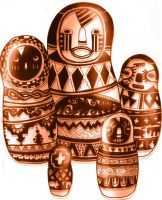 African... Russian dolls... by Linkmaster