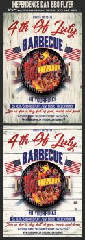 Independence Day BBQ Flyer Template by Hotpindesigns