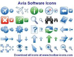 Avia Software Icons by Ikont