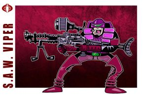 G. I. Joe Fan Art: Saw Viper by ehudsbloodysword