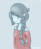 Marceline looks like she doesn't like shading... by alicejane98