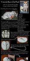 Barn Owl Plush Tutorial Part 1 by Animus-Panthera