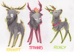Crowned Stags by TEH-beXki